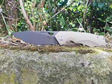 Bestech Knives G10 Toucan beige titanized finish