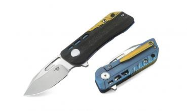 Bestech Knives Titan Engine Droppoint blue
